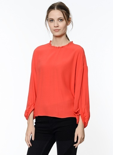 Fırfır Yaka Detaylı Gömlek-Koton